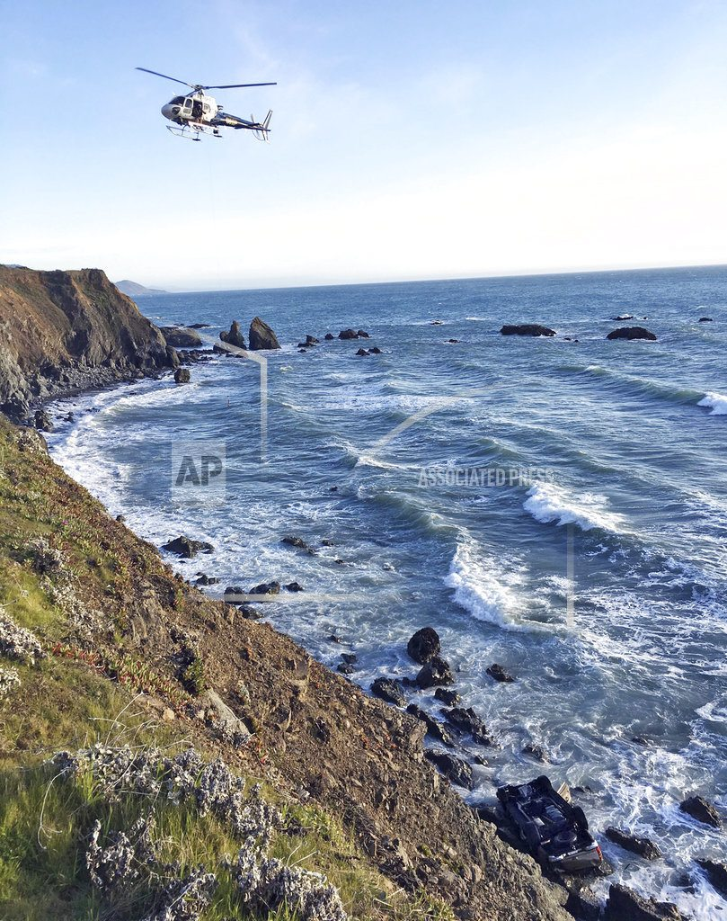 Officials search for 3 kids after cliff crash kills family