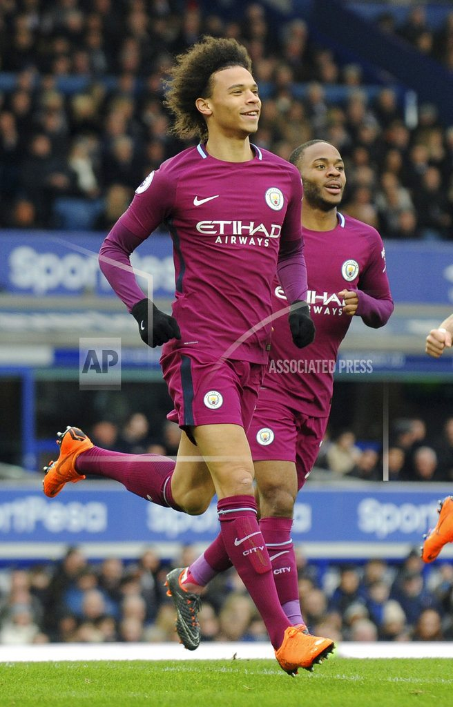 Man City beats Everton 3-1, can clinch EPL by beating United