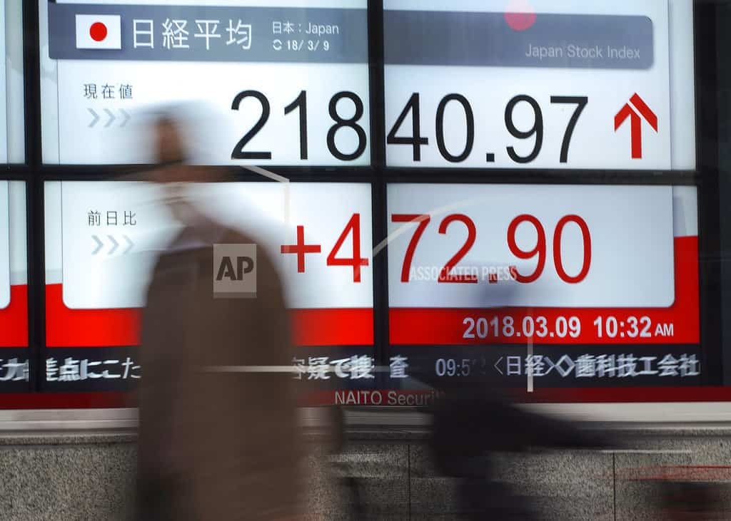 Asian shares advance, Europe mixed after Trump tariff move
