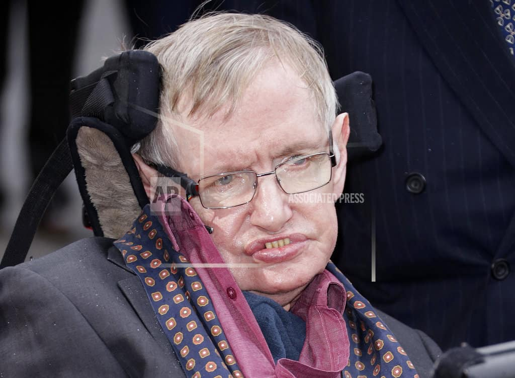 The Latest: CERN scientists hail Hawking's impact