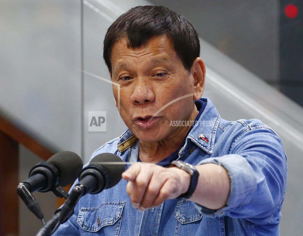 Philippine leader calls for abandoning Int'l Criminal Court