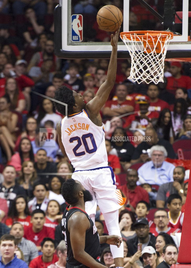 Green's 3-pointer at buzzer lifts Rockets over Suns 104-103