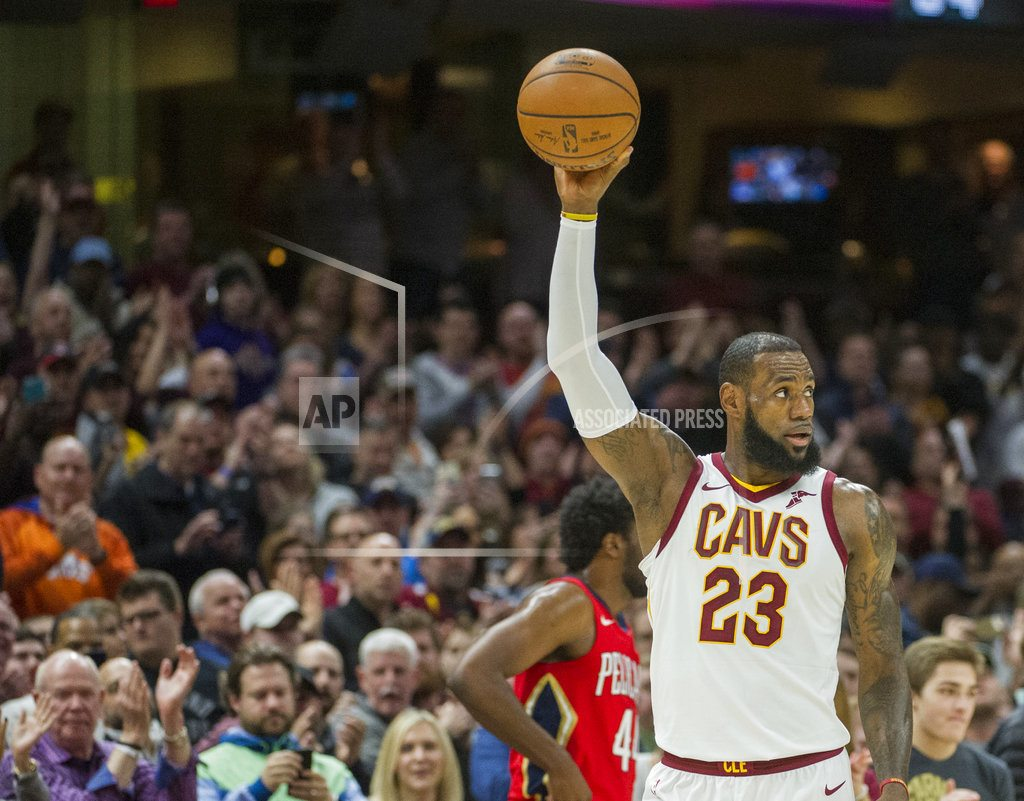 LeBron breaks Jordan record as Cavs down Pelicans 107-102
