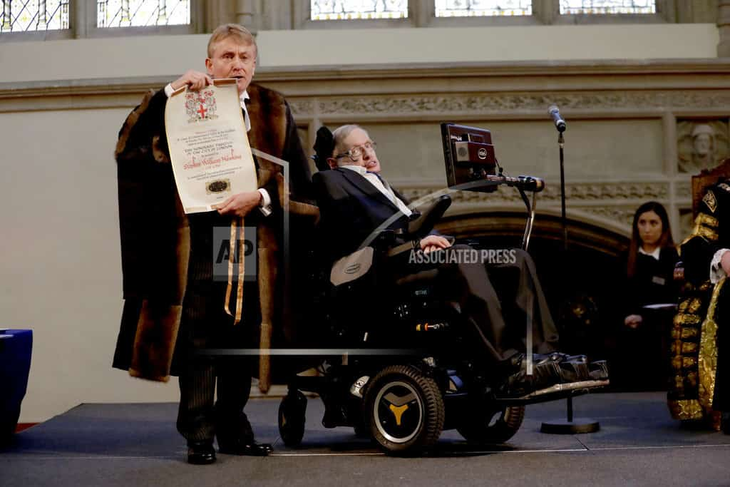 The Latest: Swedish academy pays tribute to Hawking