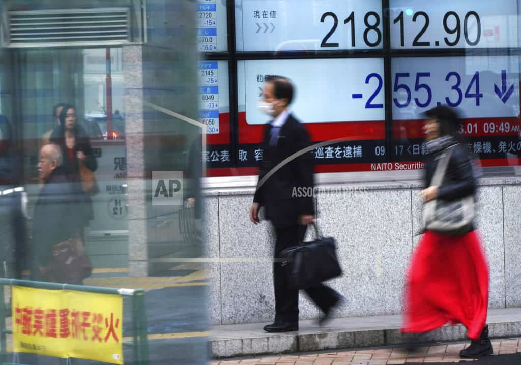 Asian shares mixed as China recovers from Wall Street drag
