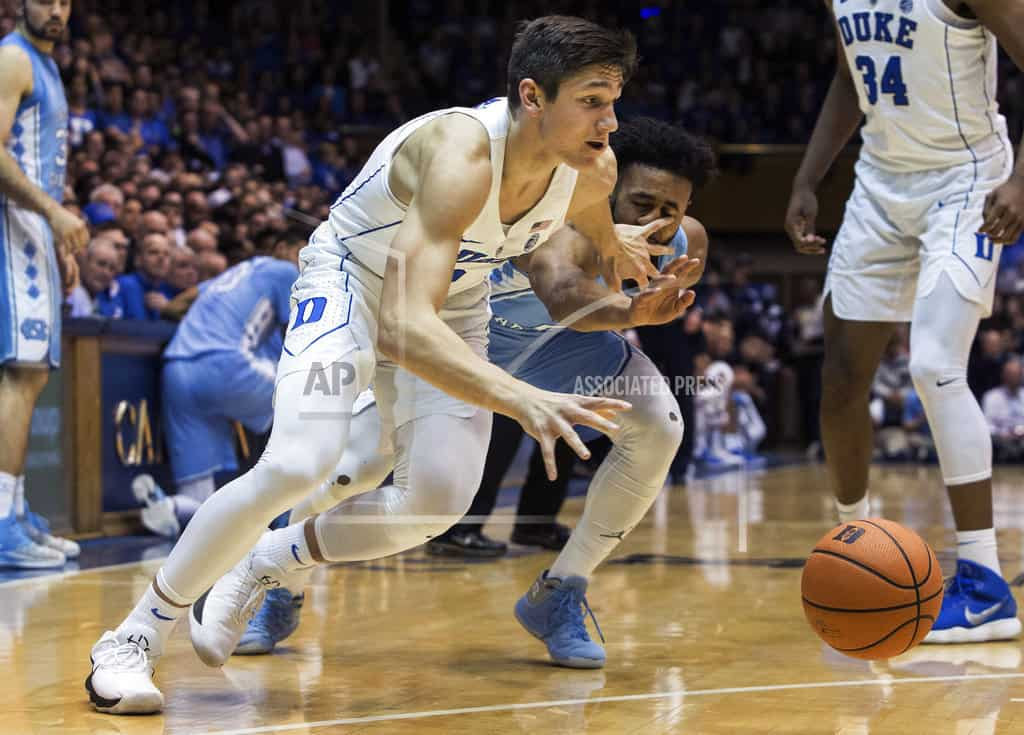 Bagley's big 2nd half leads No. 5 Duke past No. 9 UNC, 74-64