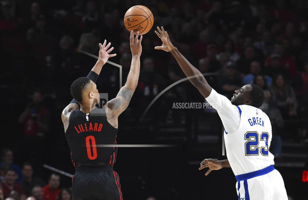 Blazers beat Warriors 125-108 for 9th straight victory