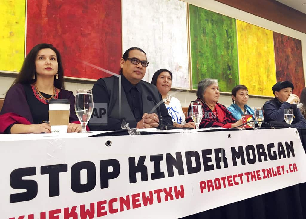 Indigenous, environmental leaders protest Canada pipeline