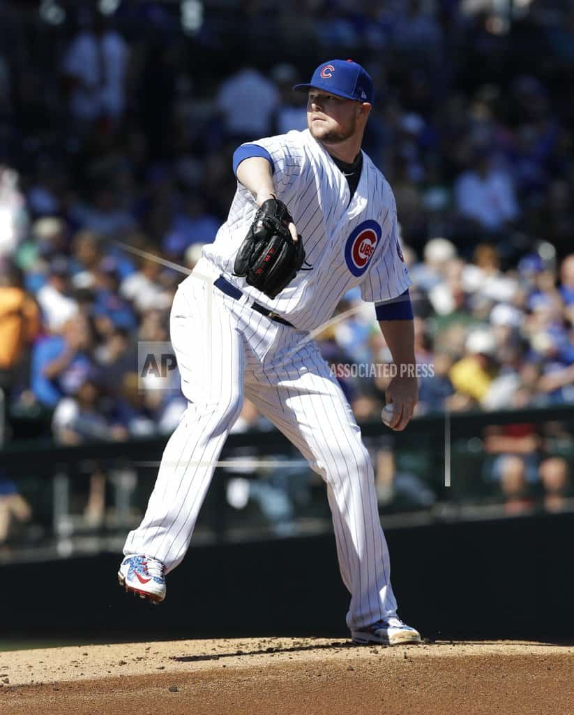 Cubs LHP Jon Lester working on unusual bounce throw to bases