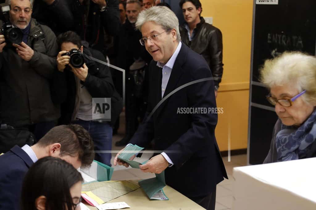The Latest: Noon turnout at 19.3 percent in Italy vote