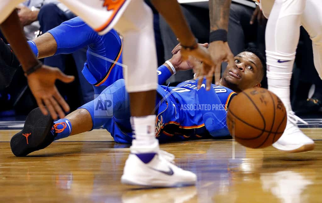 Westbrook's 43 points lead Thunder past Suns, 124-116
