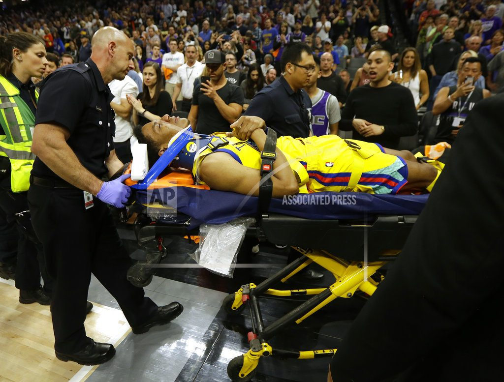 Warriors' McCaw released from hospital after scary fall