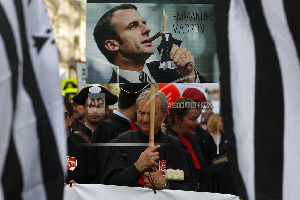 PARIS | The Latest: France's Macron to push ahead with labor reforms