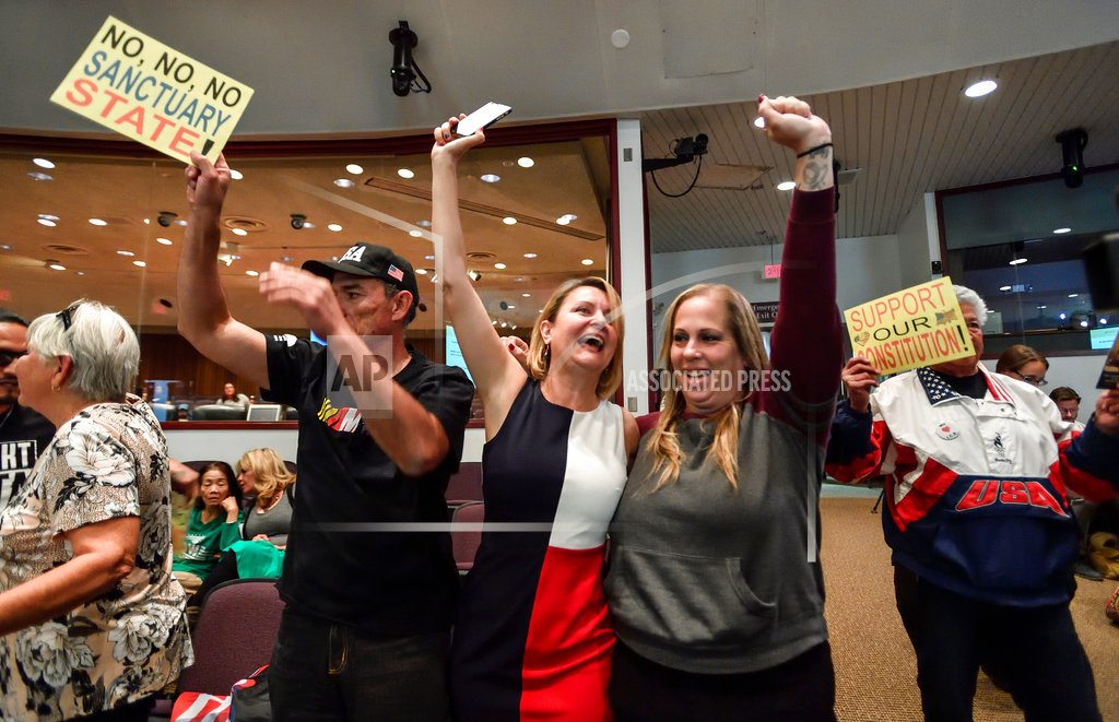 LOS ALAMITOS, Calif | Some in California side with US stance on sanctuary cities