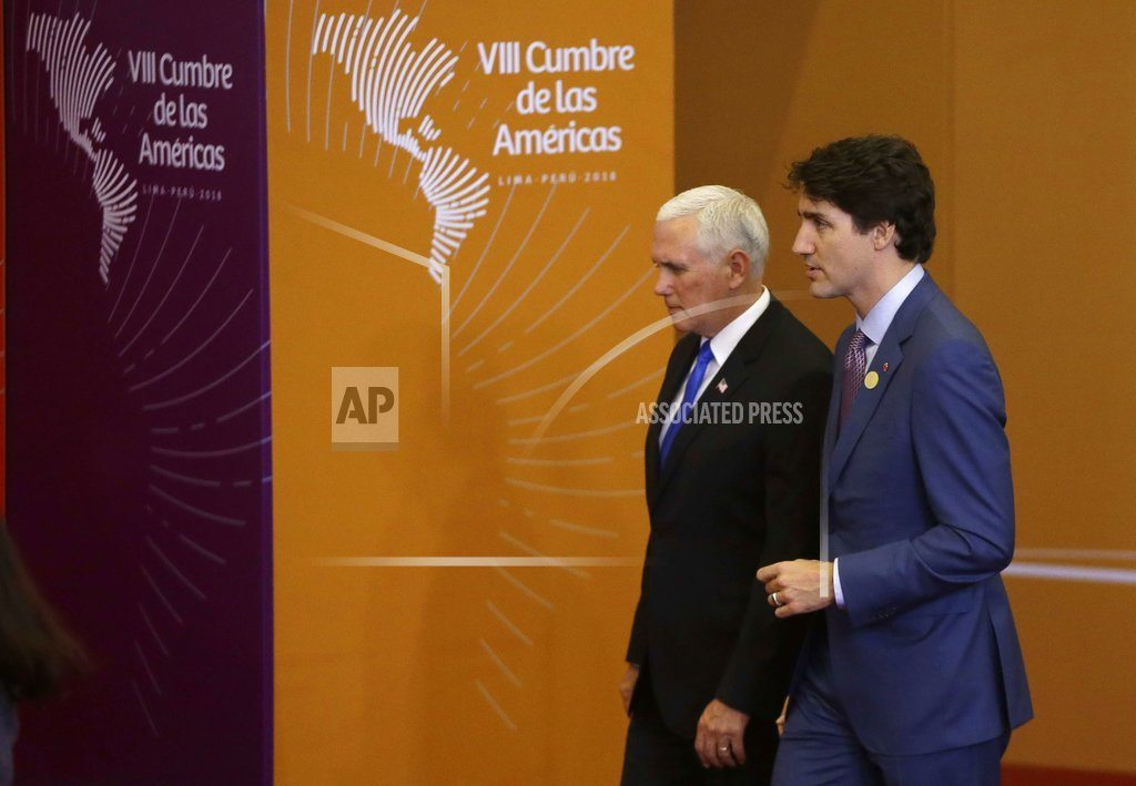 LIMA, Peru | In Peru, Pence updates allies on US-led airstrikes in Syria