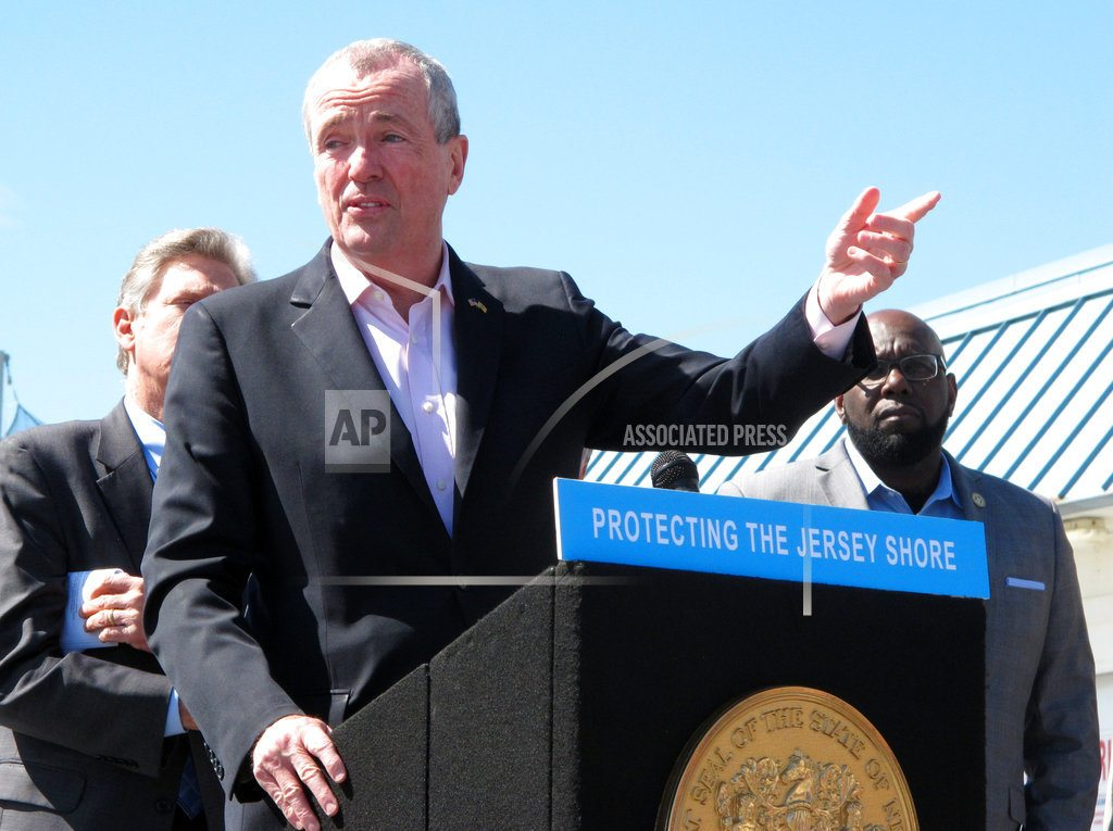 POINT PLEASANT BEACH, N.J | New Jersey governor signs drill ban to thwart Trump plan