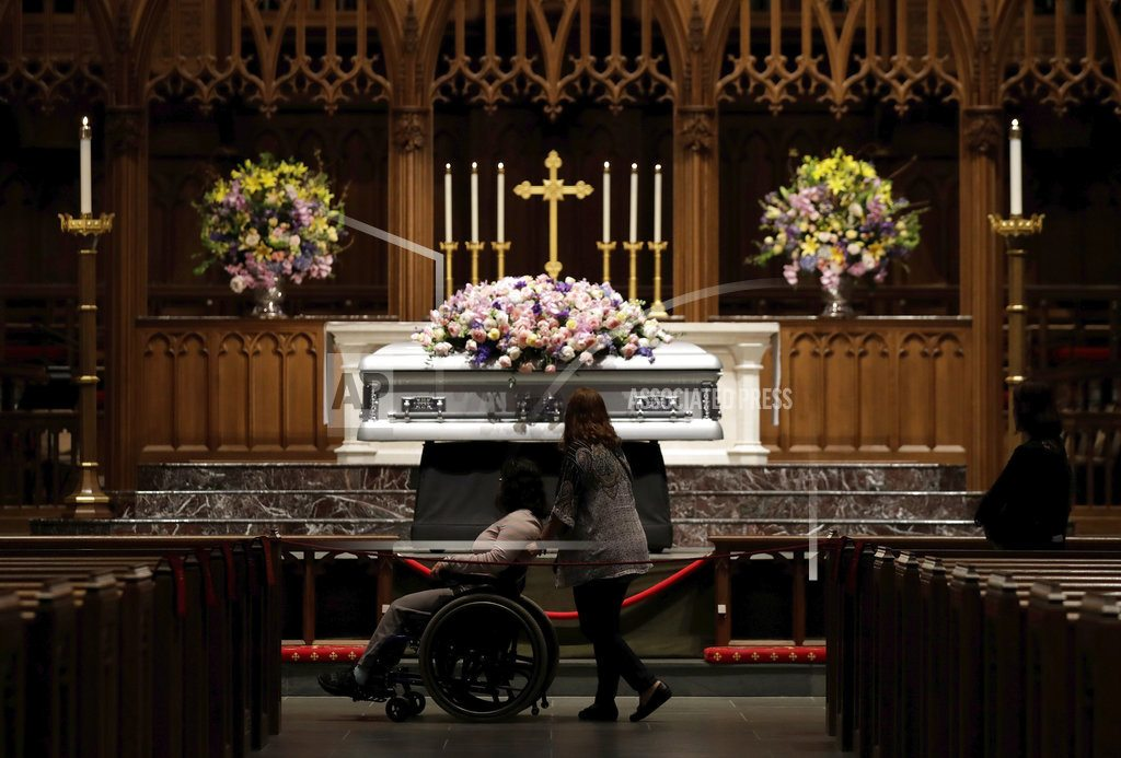HOUSTON | The Latest: Barbara Bush's casket wheeled out of church