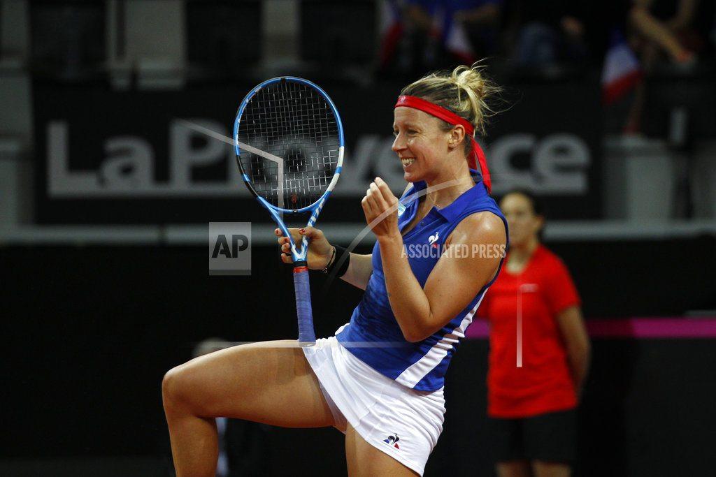 AIX-EN-PROVENCE, France | Fed Cup: US leads France 1-0 in semifinals
