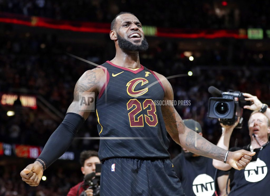 CLEVELAND   NBA says referees missed LeBron goaltending call in Game 5