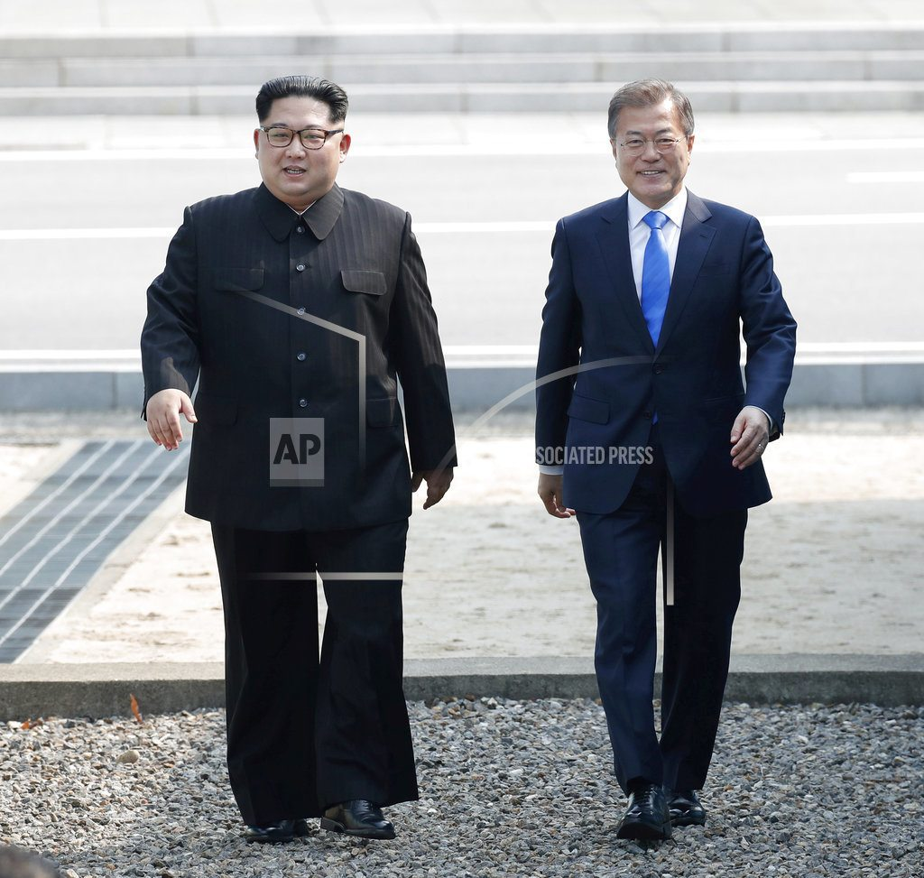 GOYANG, South Korea | Historic steps: Kim Jong Un strides across Korean border