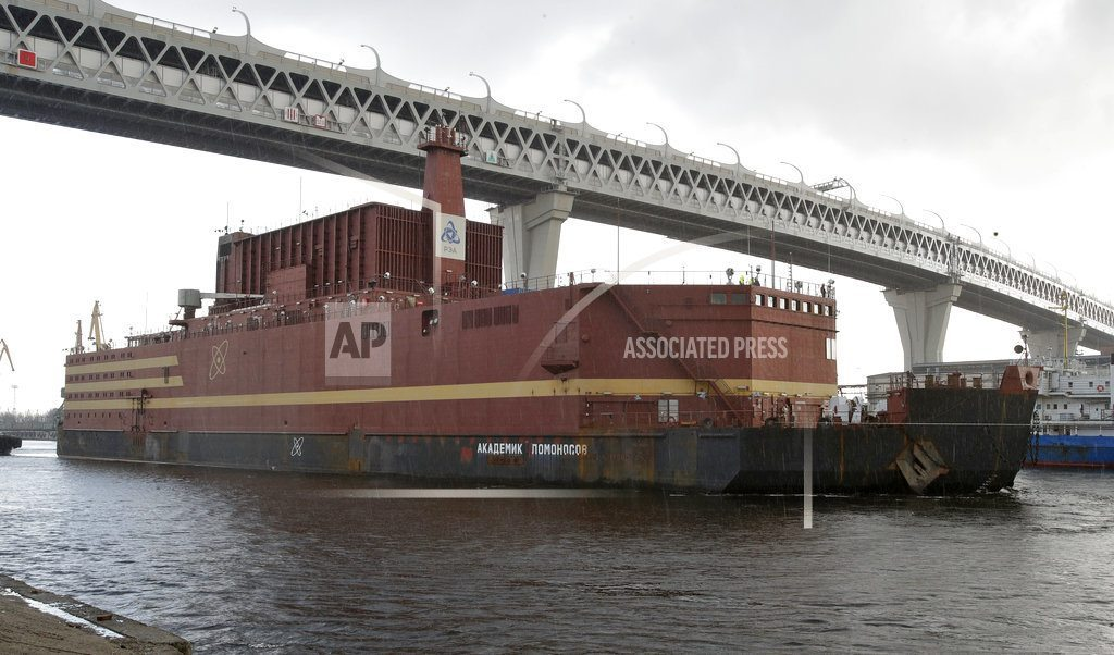 ST. PETERSBURG, Russia | Russia: Floating nuclear plant towed to sea for fueling trip