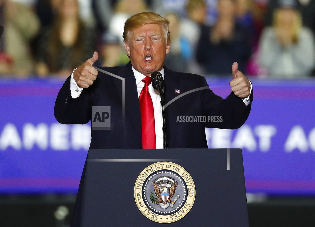 WASHINGTON TOWNSHIP, Mich | In Michigan, Trump urges voters to support GOP for Congress