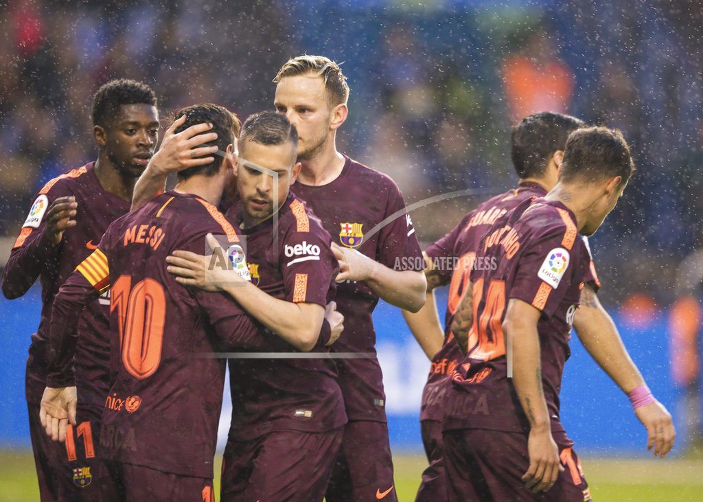 BARCELONA, Spain | Barcelona wins Spanish league title with Messi hat trick