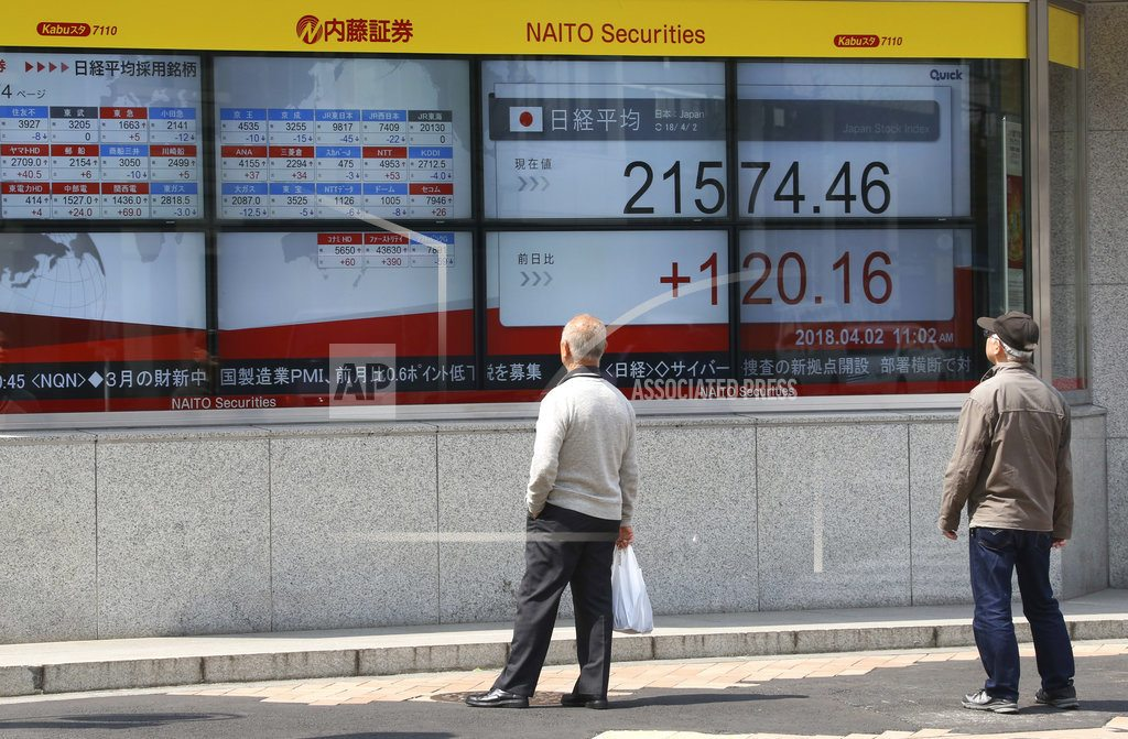 Asian markets mostly higher in muted Easter holiday trading