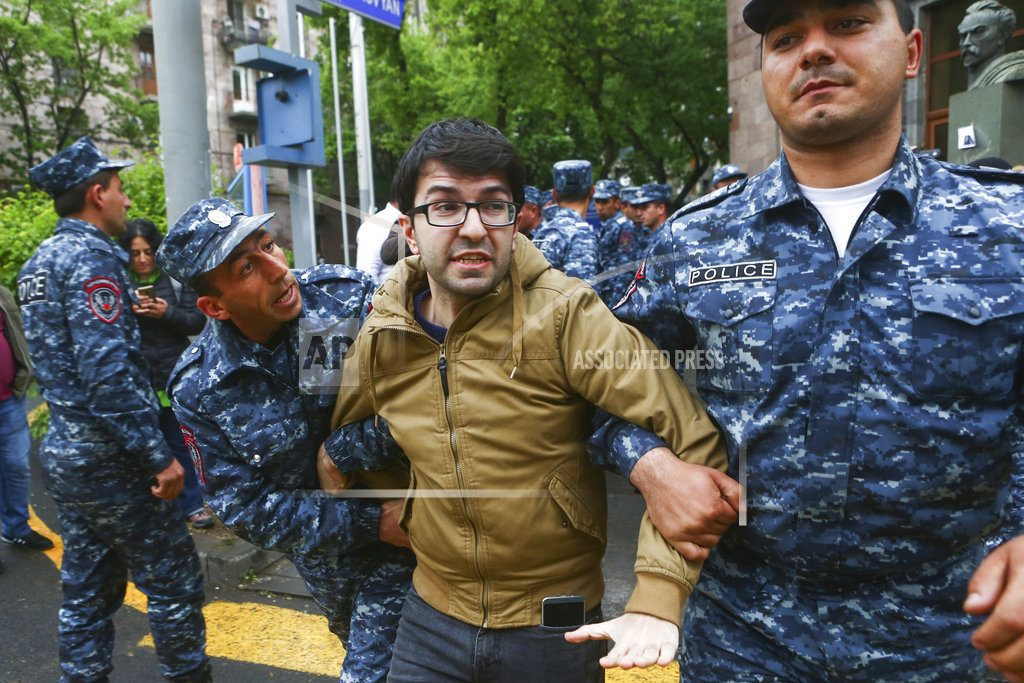 YEREVAN, Armenia | Armenia protests: 70 arrested, including 2 suspected bombers