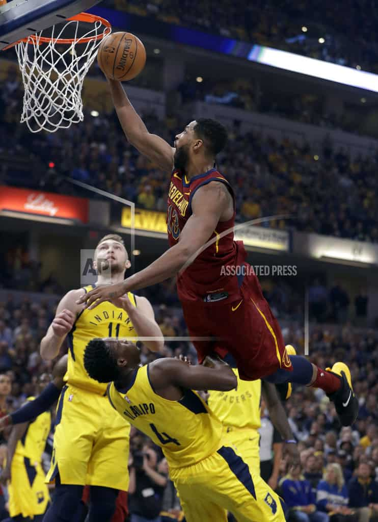 INDIANAPOLIS | Cavaliers win 104-100 at Indiana to even series at 2