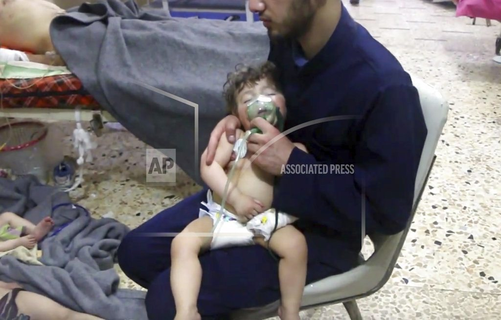 BEIRUT | The Latest: EU blames Syrian government for chemical attack