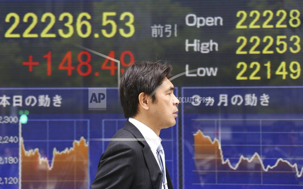 TOKYO | Global stocks mostly rise amid upbeat corporate earnings