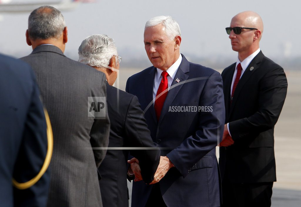 LIMA, Peru | The Latest: Pence informed US leaders of Syria announcement