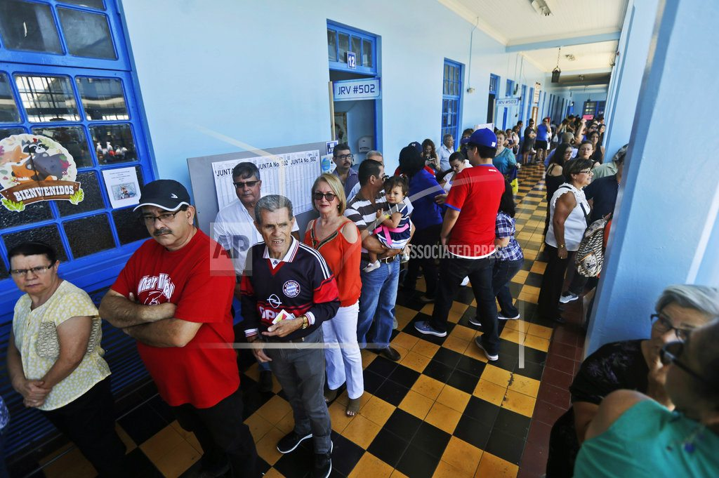 The Latest: Ruling party candidate new Costa Rica president