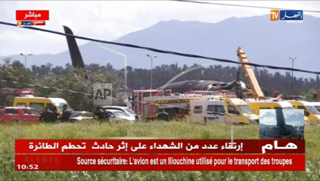 ALGIERS, Algeria | The Latest: Military plane crashes in Algeria, 257 dead