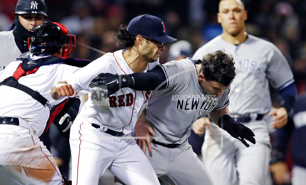 Boston | Yankees, Red Sox fight at Fenway after New York player hit