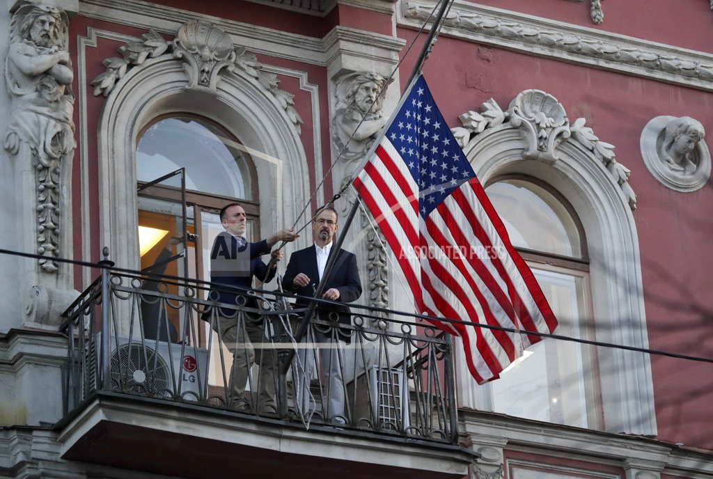 Expelled Russian diplomats return from US amid spy dispute