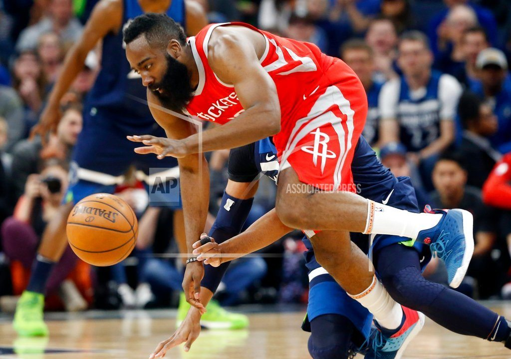 MINNEAPOLIS | Harden, Rockets soar past Wolves 119-100 with 50-point 3rd