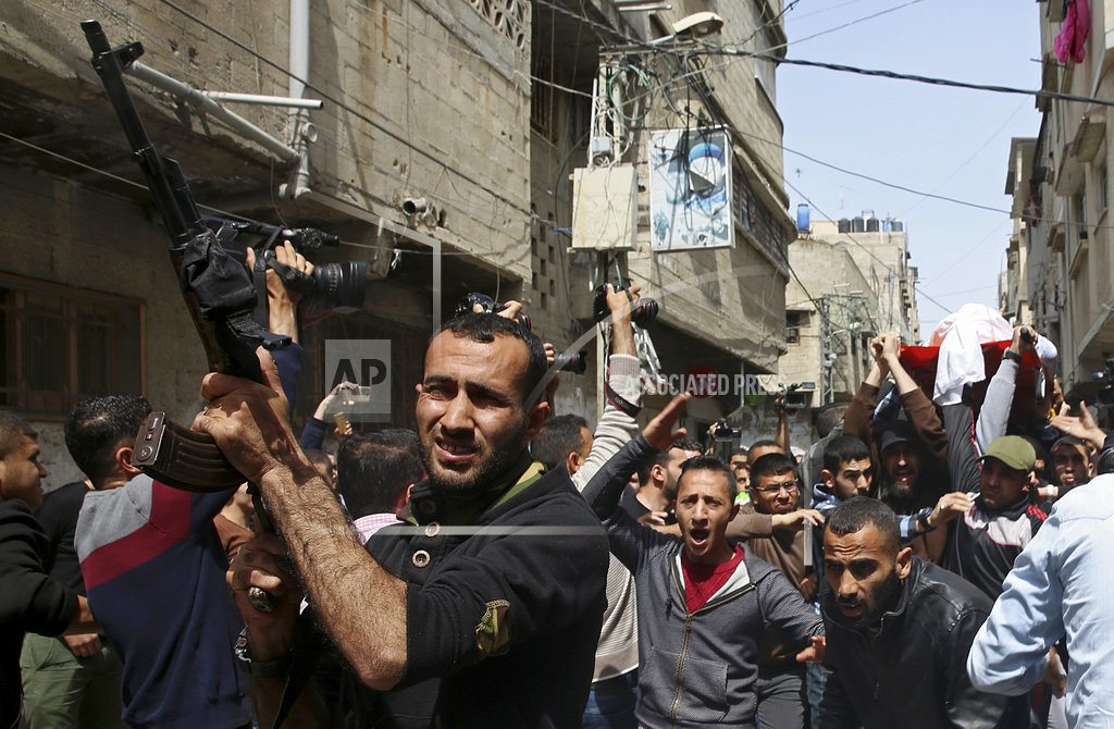 GAZA CITY, Gaza Strip | Palestinians stream to Gaza tent camps for mass protests