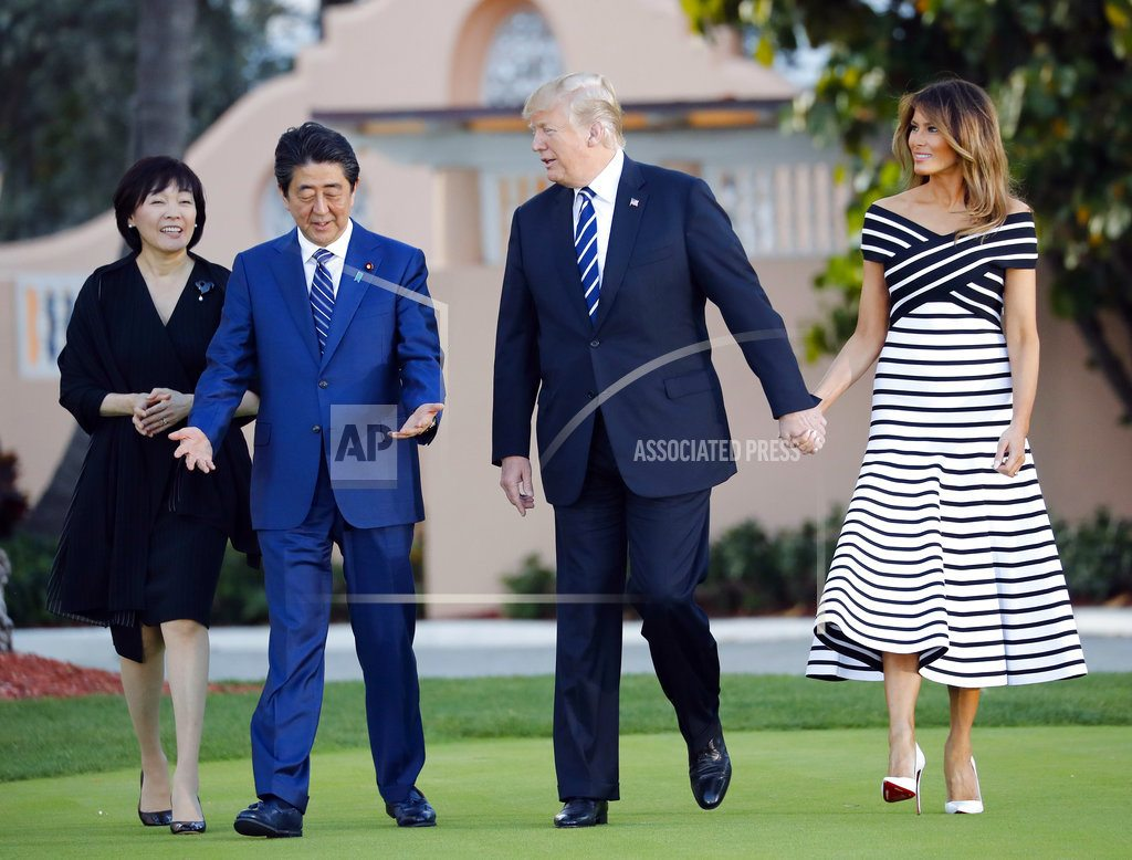 PALM BEACH, Fla. | Trump and Abe talk trade as well as relations with NKorea