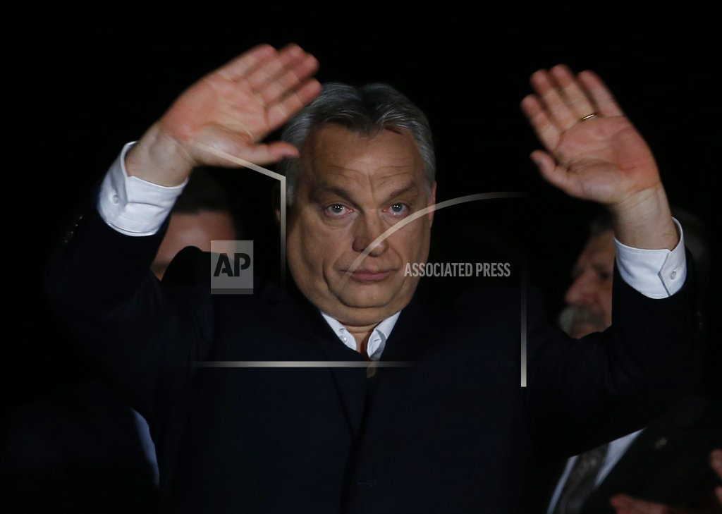 BUDAPEST, Hungary|The Latest: Poland welcomes victory of anti-migrant Orban
