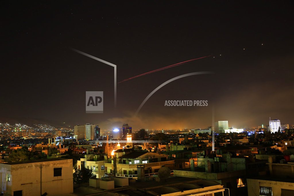 WASHINGTON |  Trump: US, allied strikes aimed at Syria's chemical weapons