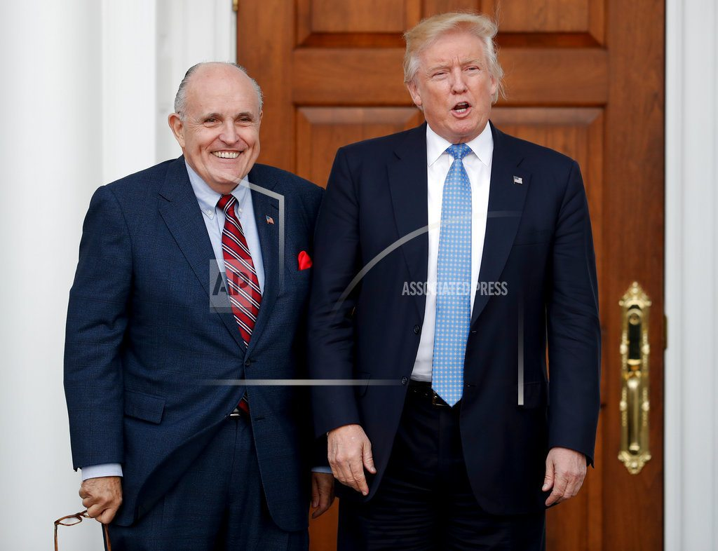 WEST PALM BEACH, Florida | Giuliani adds toughness, star power to legal team for Trump