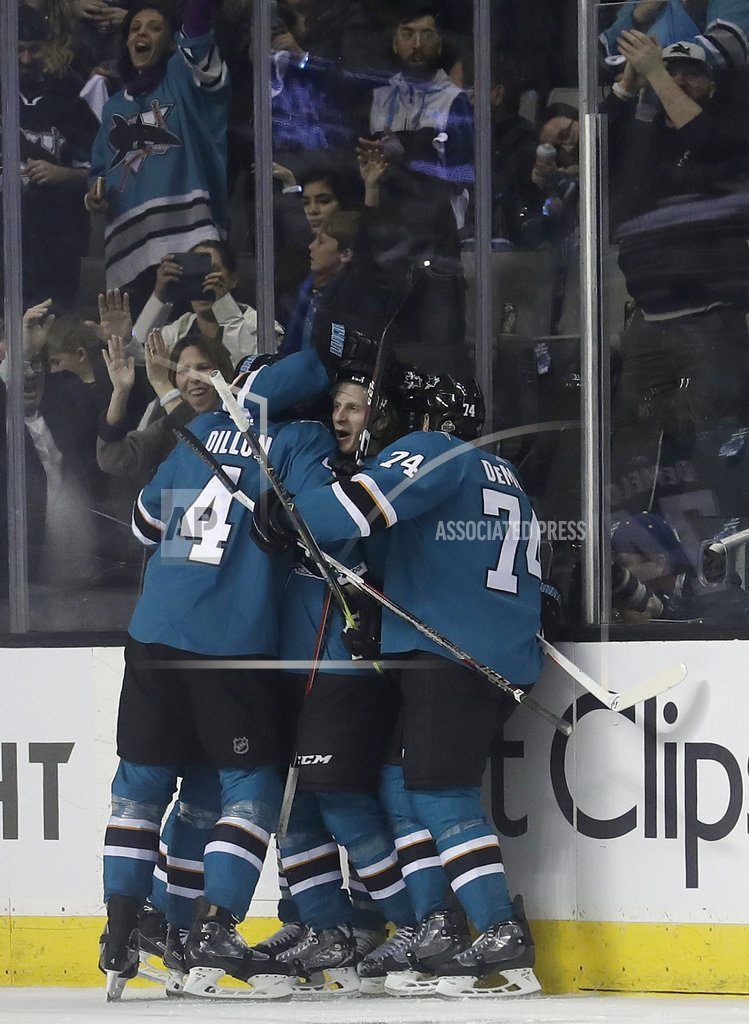 SAN JOSE, Calif. | Sharks use 2nd period barrage to beat Ducks 8-1 for 3-0 lead