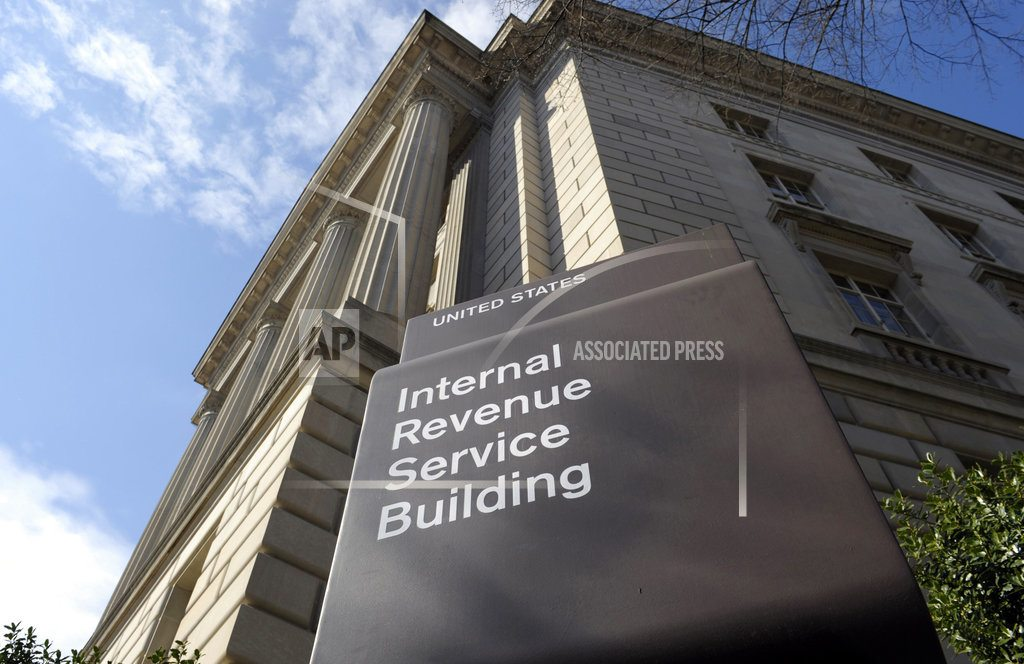 WASHINGTON  |  The Latest: Taxpayers get 1-day extension due to IRS glitch