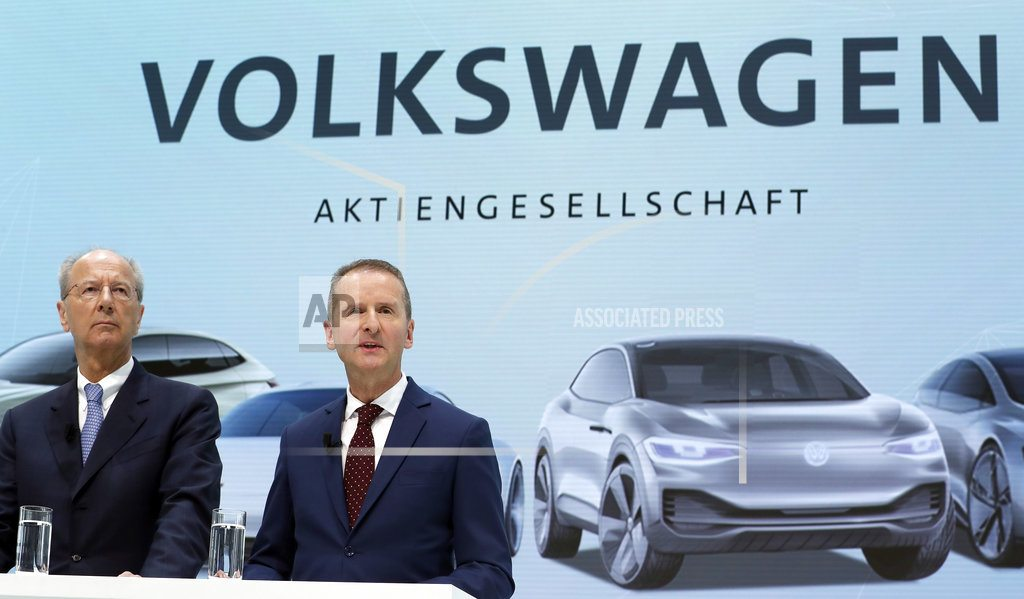 FRANKFURT, Germany | With new CEO, VW shifts focus from scandal to future tech
