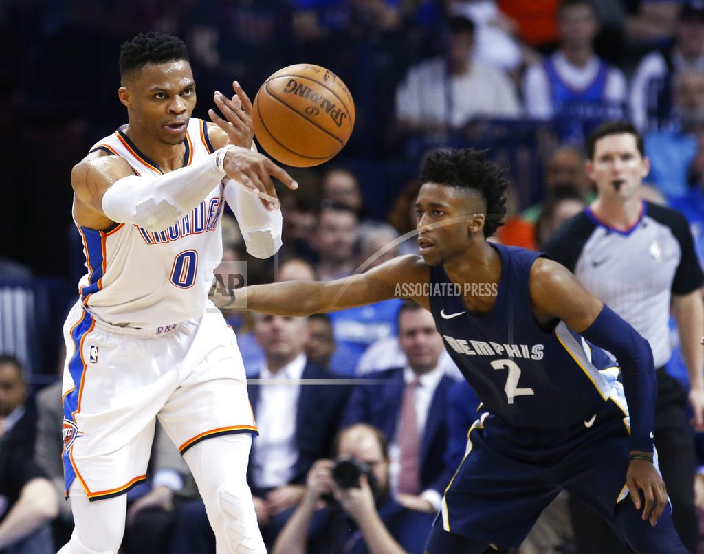 OKLAHOMA CITY | Westbrook averages a triple-double for 2nd straight season