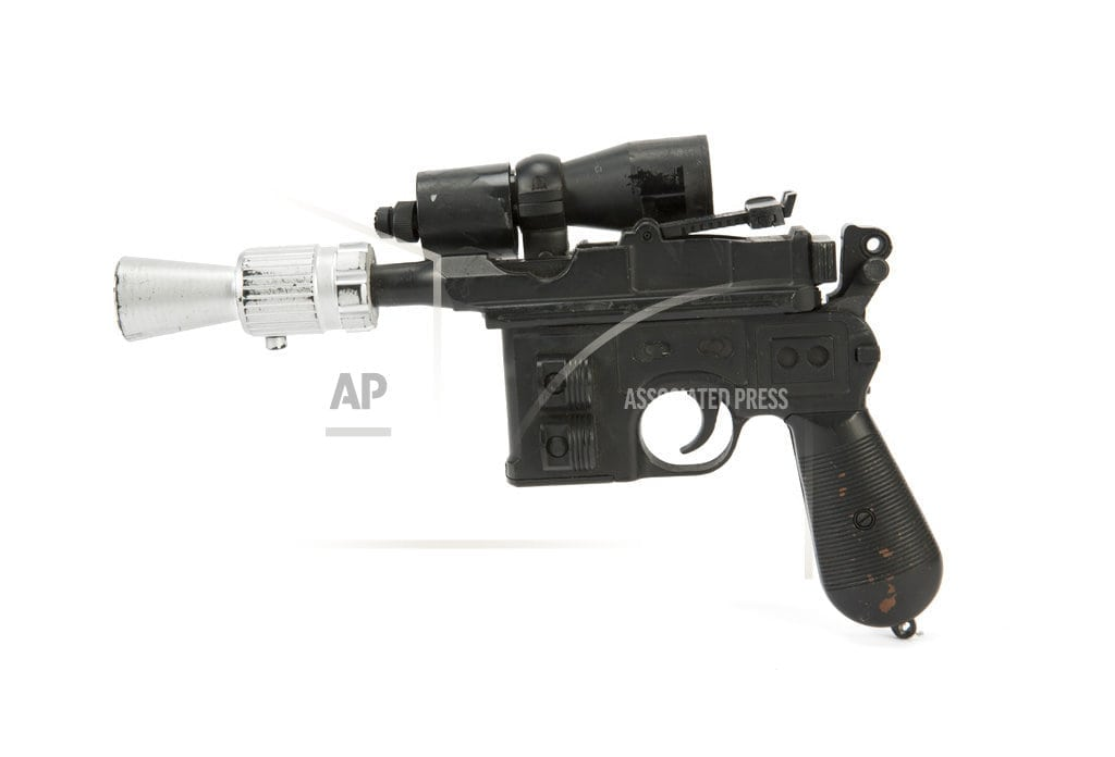 LAS VEGAS   Han Solo's Blaster from 'Return of the Jedi' tops auction