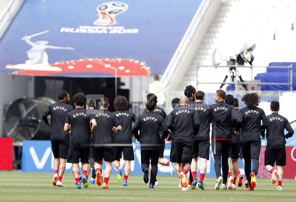 VOLGOGRAD, Russia | Salah in better shape before Egypt's last World Cup match