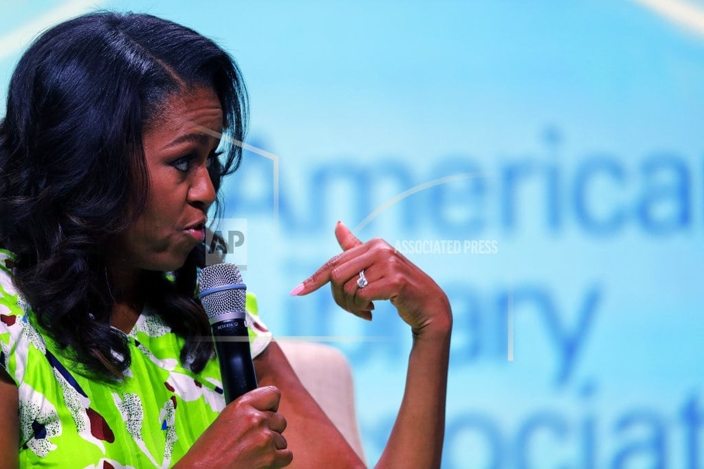 NEW ORLEANS | Michelle Obama says her memoir is a 're-humanization' effort